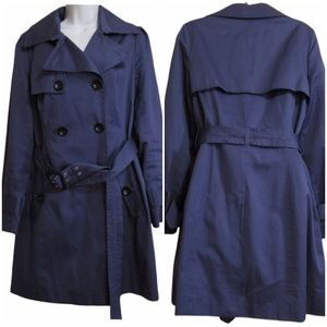 Pink martini cotton trench coat